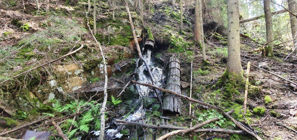Resterna efter Skäftesfalls kraftstation