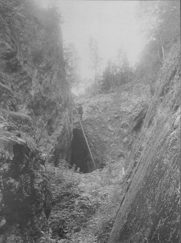 Spexeryd gruva, Småland, 1907