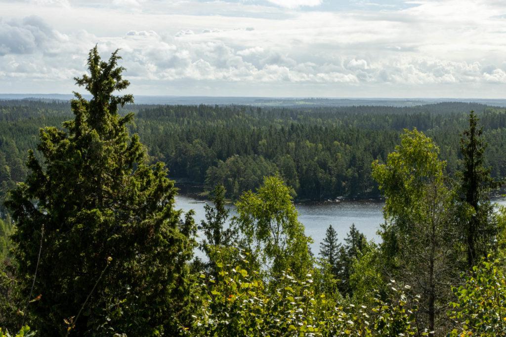 Utsikten från Hultaklint åt söder mot Växjö