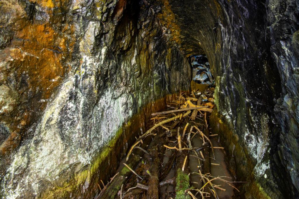 Stollgången vid Äsprilla koppargruva